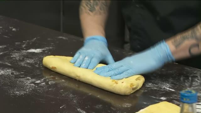KTLA Preparation of 'Rosca De Reyes'King's bread at Porto's Bakery