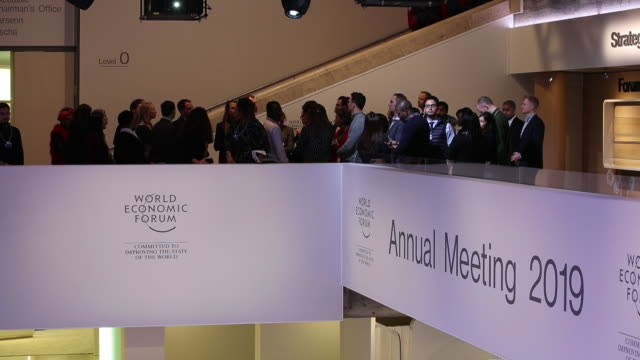Preparations ahead of the World Economic Forum 2019 in Davos Switzerland on Sunday January 20 2019