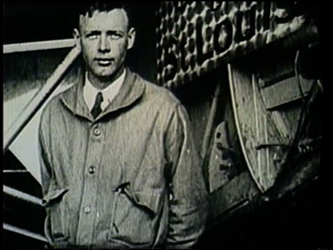 preparations are made for charles lindbergh's epic flight to paris. - charles lindbergh stock videos & royalty-free footage