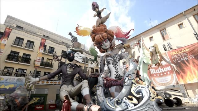 Preparations are underway in Valencia for the Fallas Festival on Thursday when hundreds of satirical sculptures will go up in flames to celebrate the...