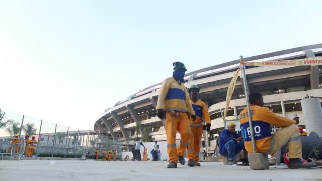 CLEAN Preparations at the Maracana Stadium at Maracana on June 26 2013 in Rio de Janeiro Brazil