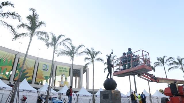 ATMOSPHERE Preparations at the Maracana Stadium at Maracana on June 26 2013 in Rio de Janeiro Brazil