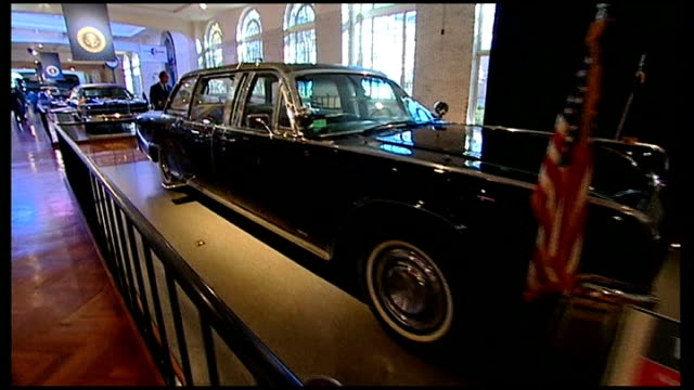 vídeos y material grabado en eventos de stock de preparations for 50th anniversary of assassination of president kennedy clint hill looking at john fkennedy exhibit in henry ford museum clint hill... - michigan