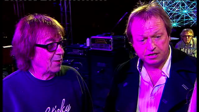 preparations for outward bound charity ball england london battersea int bill wyman and mark king interview sot great sound will have fun very... - level 42 stock videos & royalty-free footage