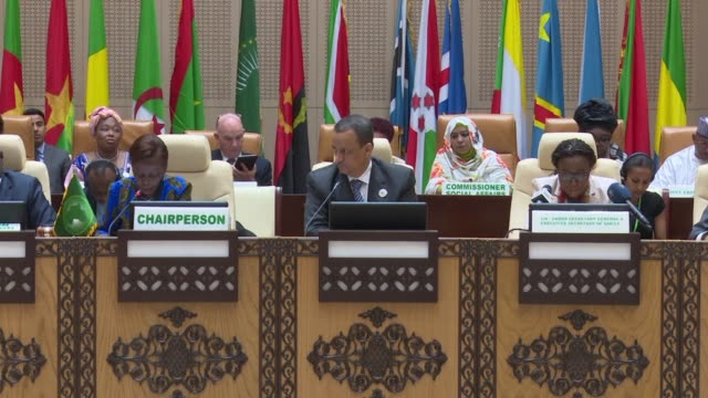preparations for the african union summit in mauritania are underway - nouakchott stock videos & royalty-free footage