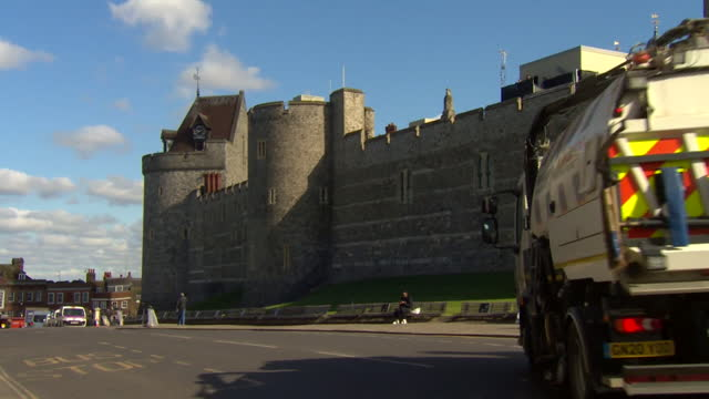 preparations in windsor ahead of the funeral for prince philip, duke of edinburgh - urban road stock videos & royalty-free footage