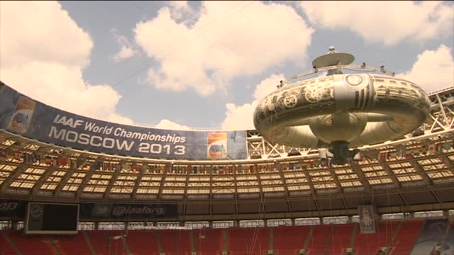 Preparations underway within Luzhniki Stadium