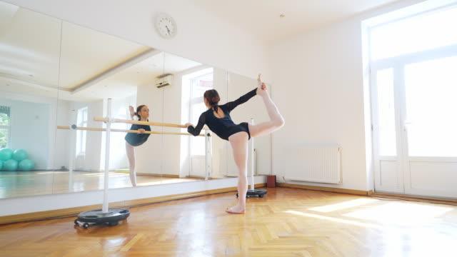 vídeos de stock e filmes b-roll de prepare for a new training session. - ballet