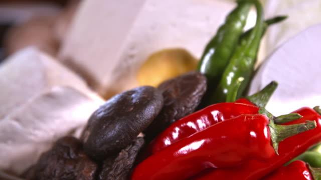 prepared vegetables for cooking / jingwansa temple, eunpyeong-gu, seoul, south korea - korea stock videos & royalty-free footage