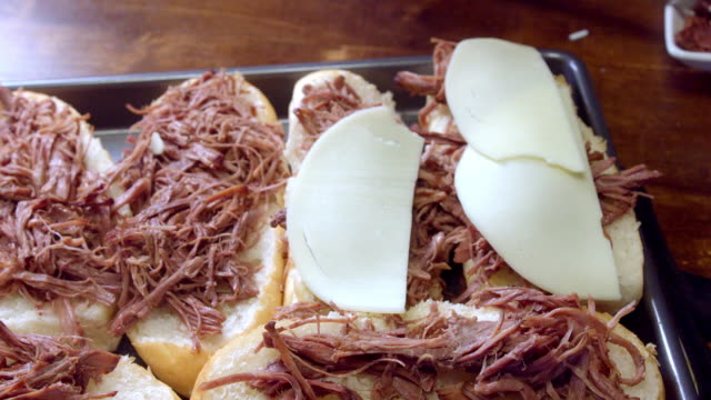 preparing a french dip - roasted stock videos & royalty-free footage