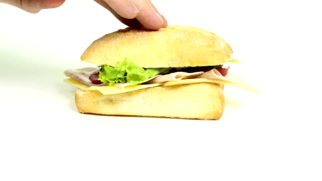 Preparing a sandwich