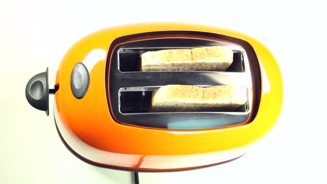 preparing a toast - toaster appliance stock videos & royalty-free footage