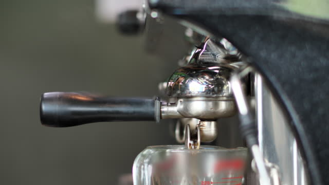 preparing an espresso coffee - metal stock videos & royalty-free footage