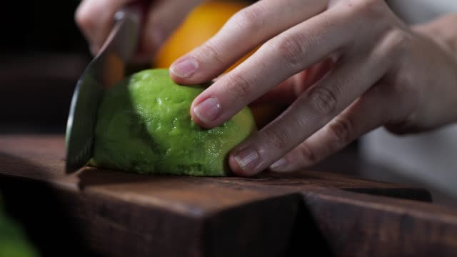 preparing beet and orange salad - avocado salad stock videos & royalty-free footage