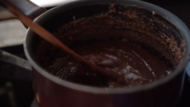 preparing brigadeiro at pan - sweet food stock videos & royalty-free footage