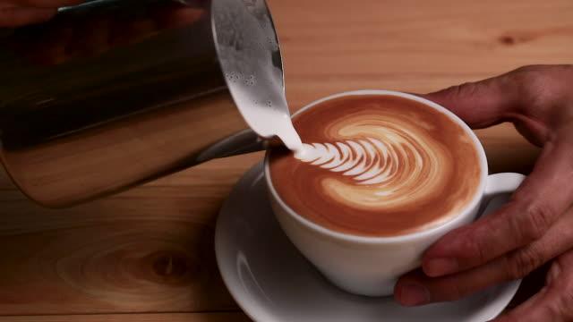 Preparing Cappuccino Coffee