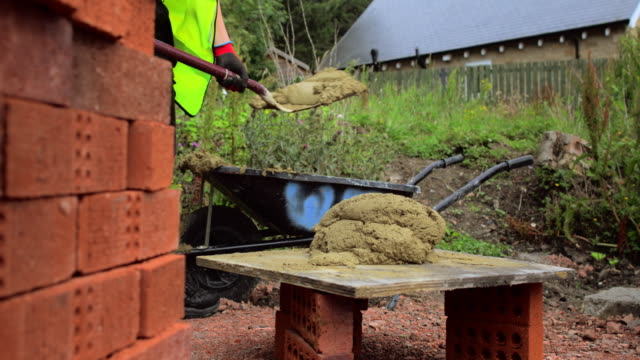 preparing cement - wall building feature stock videos & royalty-free footage