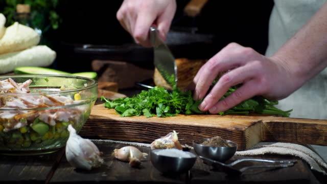 Preparing chicken avocado wraps
