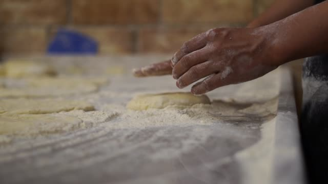 preparing dough , pide, lahmacun, tortilla - tortilla flatbread stock videos & royalty-free footage