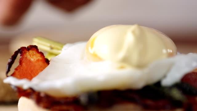 Preparing Egg Benedict For Breakfast