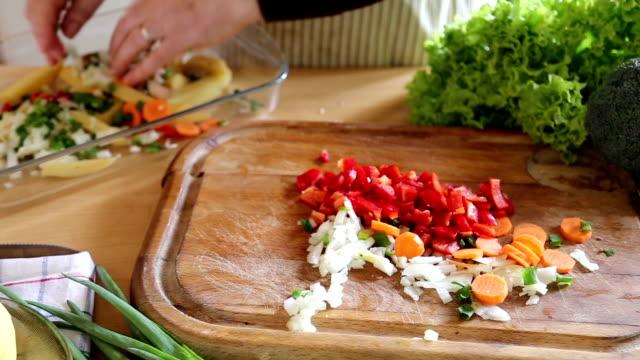 preparing food in vintage kitchen - chopped lettuce stock videos & royalty-free footage