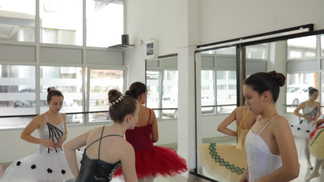 preparing for a new training session - ballet shoe stock videos & royalty-free footage