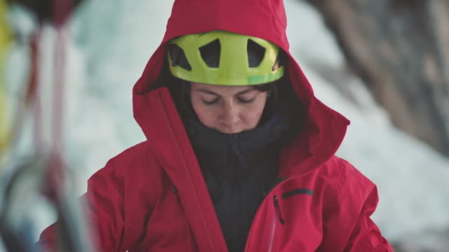 preparing for climbing - jacket stock videos & royalty-free footage