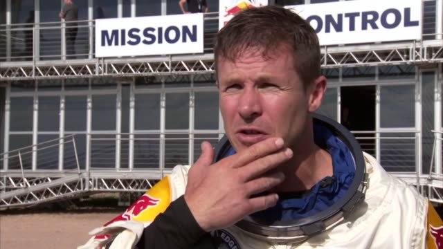 preparing for his attempt to become the first person to break the speed of sound in free-fall, felix baumgartner made a successful test jump on... - roswell stock videos & royalty-free footage