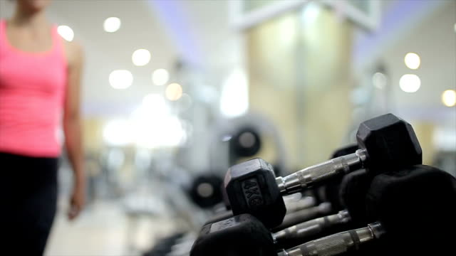Preparing for sport training in the gym,b roll