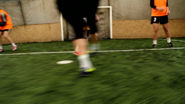 preparing for the important match - indoor soccer stock videos & royalty-free footage