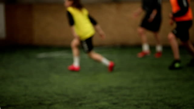 preparing for the match - indoor soccer stock videos & royalty-free footage