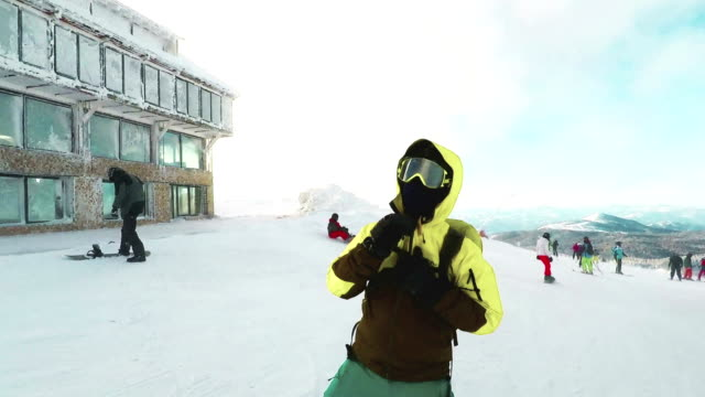 preparing for the track - ski jacket stock videos and b-roll footage