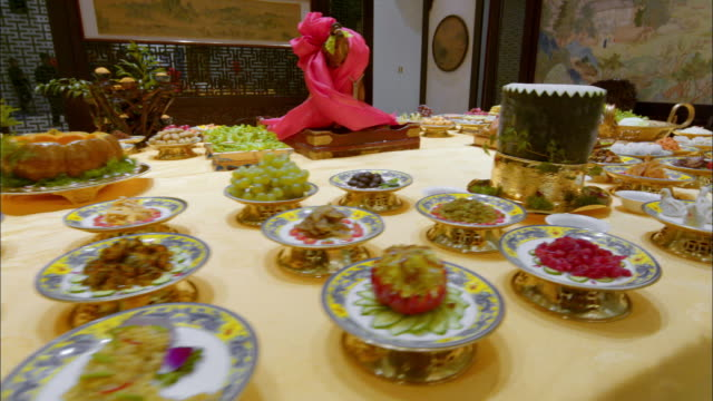 Preparing for Traditional Chinese Manchu Han Imperial Feast