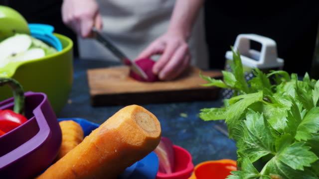 preparing fresh vegetable - beet stock videos & royalty-free footage