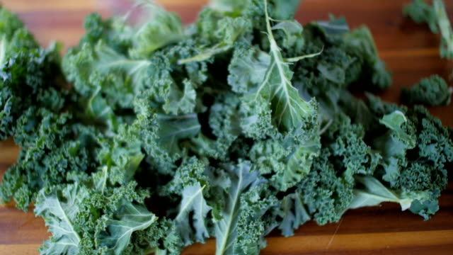 preparing freshness kale - kale stock videos and b-roll footage