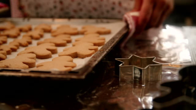 preparing gingerbread cookies in domestic kitchen - ginger spice stock videos and b-roll footage