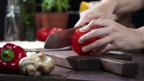 preparing homemade pizza - pizza stock videos & royalty-free footage