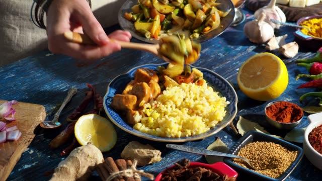 preparing indian food - indian food stock videos & royalty-free footage