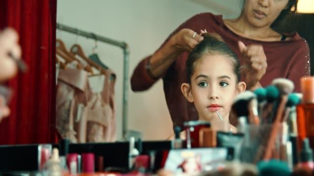 preparing little ballet dancer - leotard stock videos & royalty-free footage