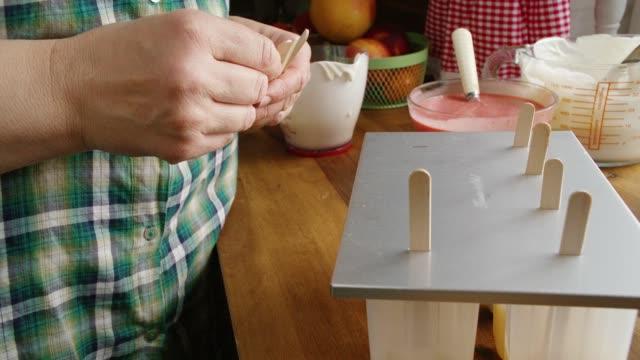 Preparing Mango, Strawberry, Chocolate, Yogurt Ice Cream on Stick