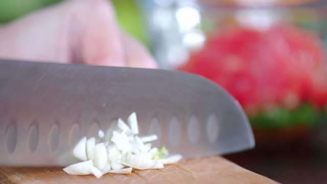 preparing mexican food - garlic stock videos & royalty-free footage
