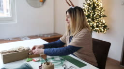 Preparing presents for Christmas