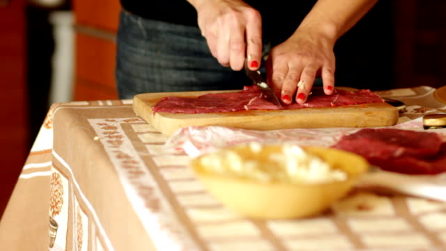 preparing raw meat for cooking - salt shaker stock videos and b-roll footage