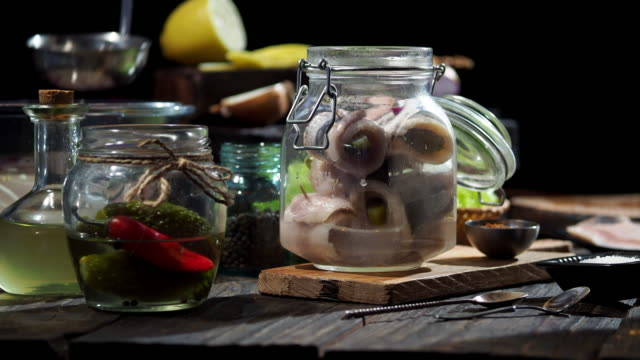 preparing rollmops - pickled stock videos and b-roll footage