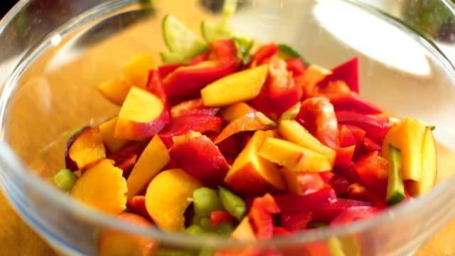 preparing salad,slo mo - savoy cabbage stock videos & royalty-free footage