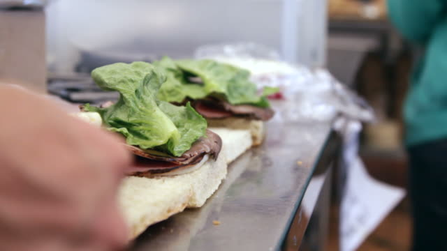preparing sandwiches - making a sandwich stock videos and b-roll footage