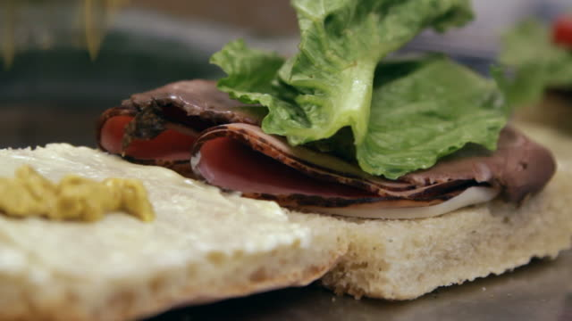 preparing sandwiches - sandwich stock videos & royalty-free footage