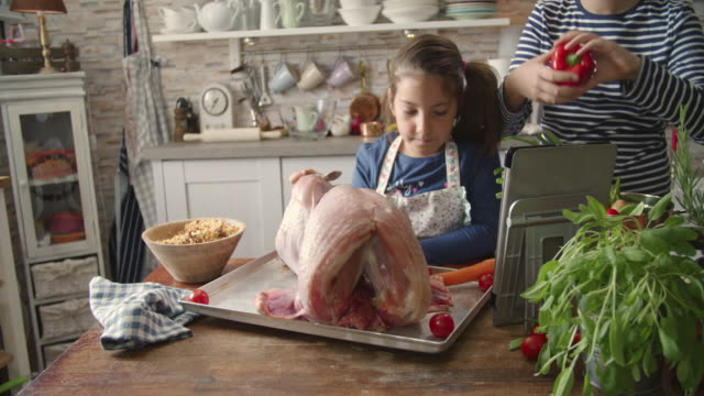 Preparing Stuffed Turkey for Holidays