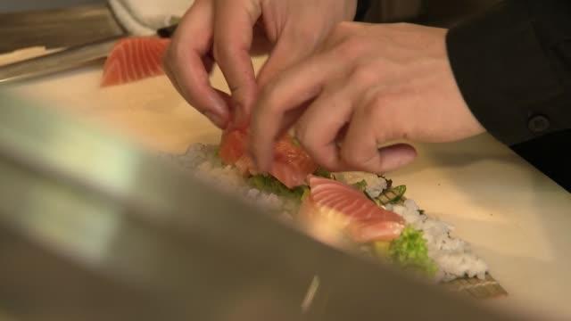 preparing sushi - japanese food stock videos & royalty-free footage
