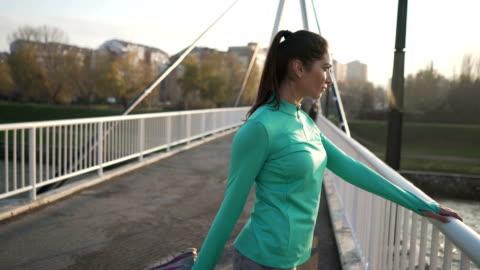 preparing to jog - stretching stock videos & royalty-free footage
